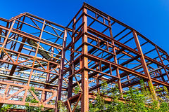 Rural disused steel construction Stock Photography