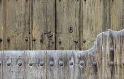 Rural door (2). Double wooden door in a village in the mountains Royalty Free Stock Images