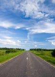 rural drogowy zachmurzone niebo Zdjęcie Stock