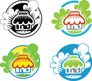 Rural Eco house logo template Royalty Free Stock Images