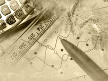 Rural economy (sepia) Stock Photography