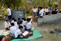 Rural Education in India Stock Photo