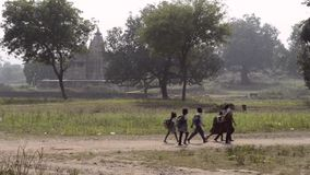 Rural education in India stock footage