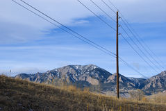 Rural Electrical Wires Stock Photography