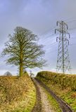 Rural electricity pylon Royalty Free Stock Photos