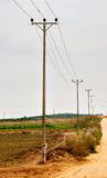 Rural Electricity Pylons in Israel Royalty Free Stock Image