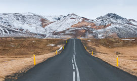 Rural empty  road Iceland Royalty Free Stock Images