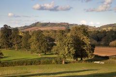 Rural England at sunset Stock Image