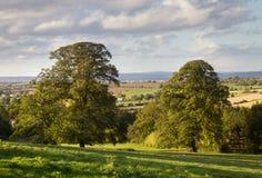 Rural England at sunset Stock Photo
