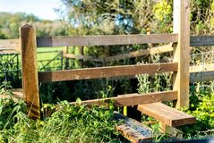 Rural english country stile in Gloucestershire and the Cotswolds stock photo