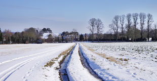 Rural English Winter Landscape Royalty Free Stock Photo