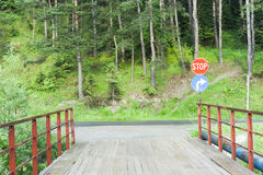 Rural entrance to road Royalty Free Stock Photography