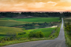 Rural Evening Royalty Free Stock Photo