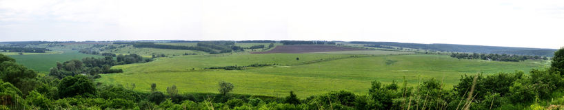 Rural expanses. Panorama Stock Photo