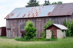 Rural farm buildings in Michigan Royalty Free Stock Photos