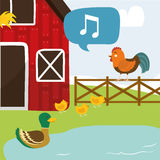 Rural and farm icons Stock Photography