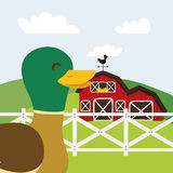Rural and farm icons Stock Photo