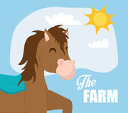 Rural and farm icons Royalty Free Stock Images