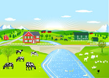 Rural farm landscape Royalty Free Stock Photos