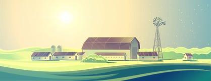Rural farm landscape. Stock Image