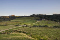 Rural farm near Wharariki Beach Royalty Free Stock Images