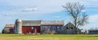 Rural Farm Panorama. An old farm panoramic view as seen from a country road in rural Central New Jersey royalty free stock photography