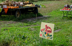 Rural farm produce for sale Stock Photos