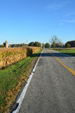 Rural Farm Road. Rural country two lane farm road Stock Images