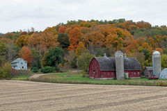 Rural Farm Site in Fall Colors Royalty Free Stock Image