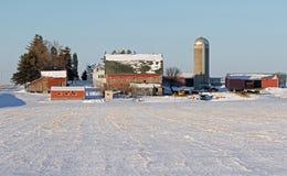 A Rural Farm Site Winter Landscape Stock Photos