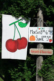 Rural Farm Stand Sign Royalty Free Stock Photography