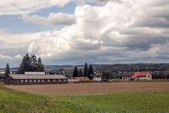 Rural farm in Switzerland Stock Photos