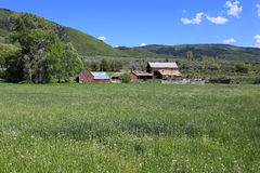 Rural farm in Utah, USA. Stock Photos