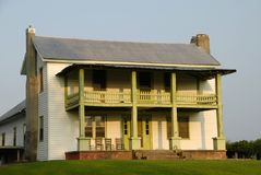Rural Farmhouse. An old farmhouse in rural southern state stock photography
