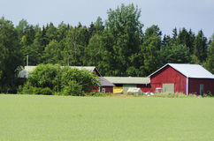 Rural Farmhouse landscape Stock Photography