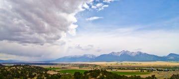 Rural Farming Valley in Colorado Stock Image