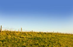 barbed wirel fence Stock Image