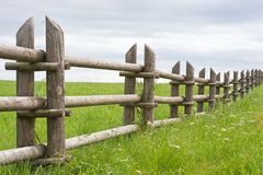 Rural fence in the field Stock Photos
