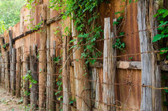 Rural fence. Old Rural fence agricultural backgrounds Stock Photo