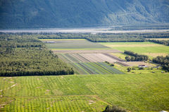 Rural Fields in Alaska Stock Photos