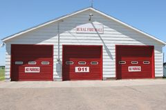 Rural Fire Hall Stock Photography