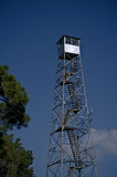 Rural Fire Watch Tower. Against a blue sky Stock Photo