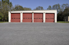 Rural firehouse garage Royalty Free Stock Photos