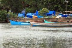 Rural fisherman community village Stock Photo