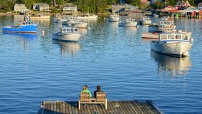 Rural fishing village  near Acadia National Park Stock Images