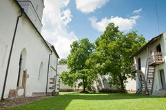 Rural Fortified Church Courtyard Royalty Free Stock Images