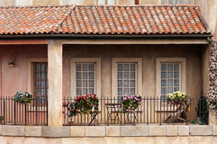 Rural french house. Image of a balcony at an old rural french house. Taken in Paris, France Stock Images