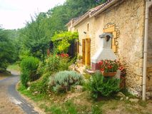 Rural French village Stock Photo