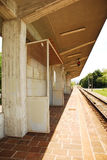 Rural Friullian Train Station, Italy. A single-line train station in the village of Moimacco, Friuli, north east Italy. Thi is a request stop, and the red light royalty free stock images