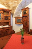Rural Furniture. A part of a cellar-room used to serve wine, with furniture typical for rural homes in austria in the first half of 2oth century Royalty Free Stock Images